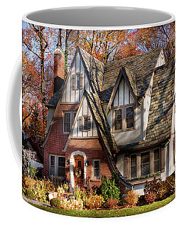 Coffee Mug featuring the photograph Autumn - Gnome Home by Mike Savad