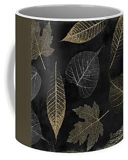 Autumn Gold Leaf Pattern Coffee Mug