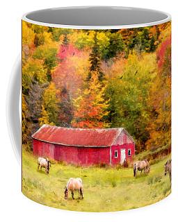 Autumn Horses Coffee Mug