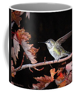 Coffee Mug featuring the photograph Autumn Hummer by Joyce Dickens