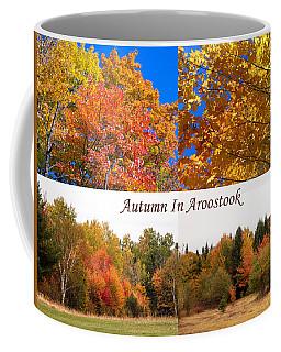 Autumn In Aroostook Collage Coffee Mug