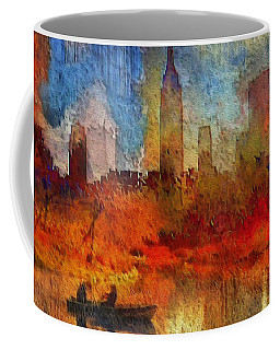 Autumn In New York Coffee Mug by Ted Azriel