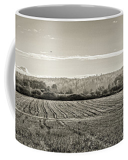 Autumn In The Countryside Bw Coffee Mug