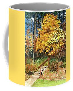 Coffee Mug featuring the painting Autumn Invitation by Barbara Jewell