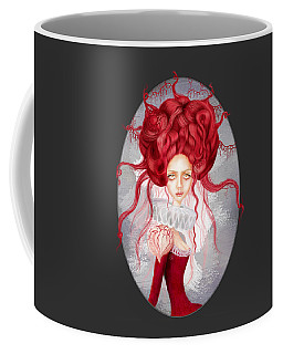 Coffee Mug featuring the drawing Autumn by Julia Art