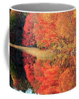Autumn Lake Scenery Coffee Mug