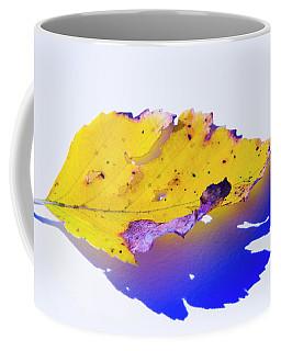 Coffee Mug featuring the photograph Autumn Leaf Abstract by Yulia Kazansky