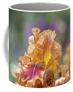 Autumn Leaves Iris Flower. The Beauty Of Irises  Coffee Mug
