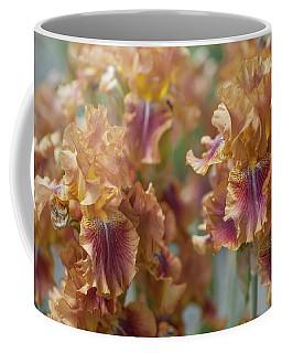 Autumn Leaves Irises In Garden Coffee Mug