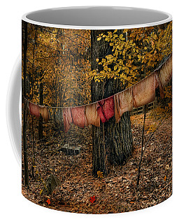 Coffee Mug featuring the photograph Autumn Linens by Robin-Lee Vieira