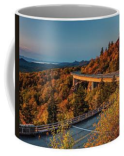 Morning Sun Light - Autumn Linn Cove Viaduct Fall Foliage Coffee Mug