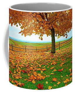 Autumn Maple Tree And Leaves Coffee Mug