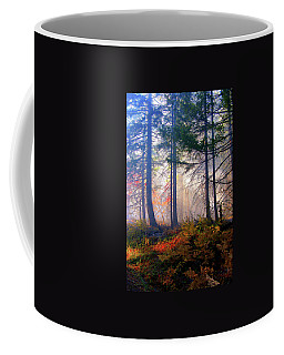 Autumn Morning Fire And Mist Coffee Mug