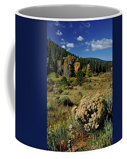 Coffee Mug featuring the photograph Autumn Morning In The Canyon by Ron Cline