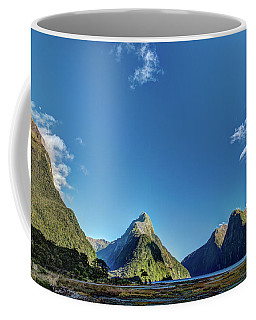 Coffee Mug featuring the photograph Autumn Morning Milford Sound by Gary Eason