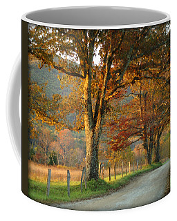 Autumn On Sparks Lane Coffee Mug by TnBackroadsPhotos