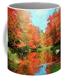 Autumn On The Mersey River, Kejimkujik National Park, Nova Scotia, Canada Coffee Mug