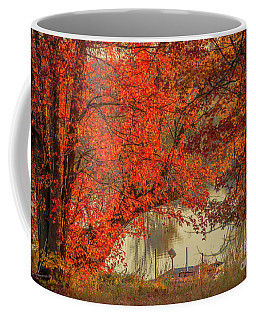 Autumn On The Mississippi Coffee Mug by Cheryl Baxter