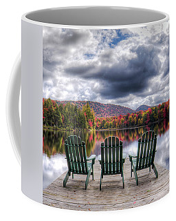 Coffee Mug featuring the photograph Autumn On West Lake by David Patterson