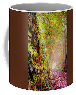 Coffee Mug featuring the photograph Autumn Path by Geoff Smith