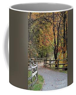 Autumn Path In Park In Maryland Coffee Mug