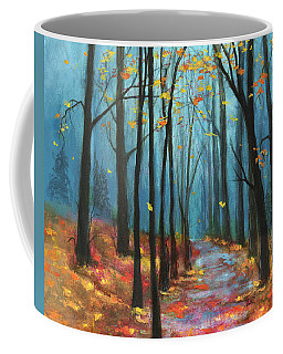 Coffee Mug featuring the painting Autumn Path by Terry Webb Harshman