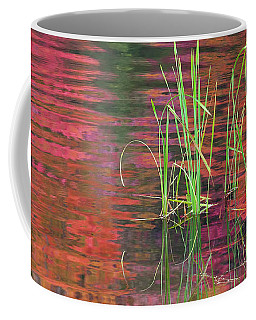 Coffee Mug featuring the photograph Autumn Pond Colors by Alan L Graham