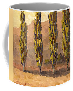 Autumn Poplars Coffee Mug