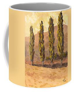 Autumn Poplars Coffee Mug