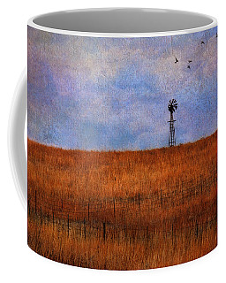 Autumn Prairie Windmill Coffee Mug