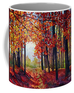 Coffee Mug featuring the painting Autumn Rapture by Hailey E Herrera