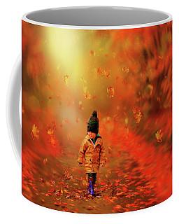 Autumn Red Coffee Mug by Lilia D