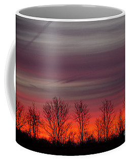 Autumn Red Sunrise Coffee Mug by Cheryl Baxter
