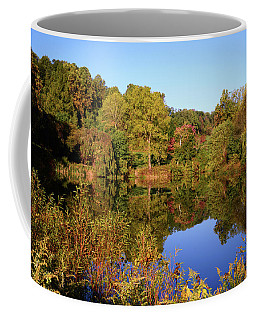 Coffee Mug featuring the photograph Autumn Reflection by Angie Tirado