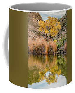 Autumn Reflection At Boyce Thompson Arboretum Coffee Mug