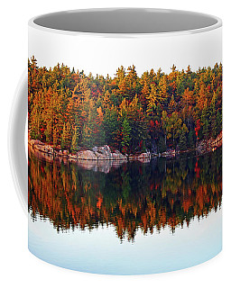 Coffee Mug featuring the photograph   Autumn Reflections by Debbie Oppermann