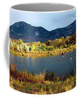Autumn Rest Stop For Canadian Geese Coffee Mug