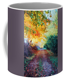 Coffee Mug featuring the photograph Autumn Road by Diane Alexander