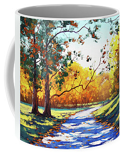 Autumn Road Mt Wilson Coffee Mug