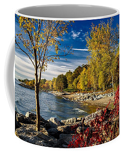Autumn Scene Lake Ontario Canada Coffee Mug