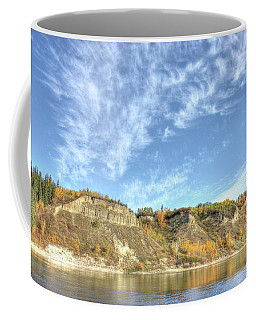 Autumn Sky On The River Coffee Mug
