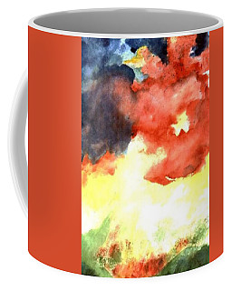 Coffee Mug featuring the painting Autumn Storm by Andrew Gillette