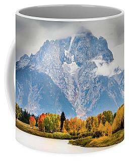 Autumn Storm Over Mount Moran Coffee Mug