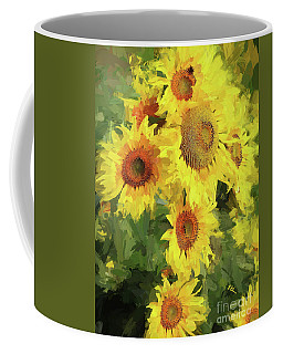 Autumn Sunflowers Coffee Mug by Tina LeCour
