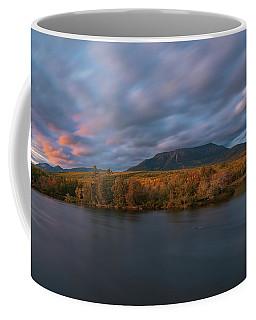 Autumn Sunset At Mount Katahdin Coffee Mug
