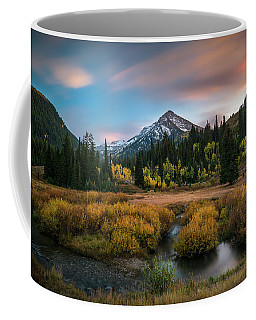 Coffee Mug featuring the photograph Autumn Sunset In Big Cottonwood Canyon by James Udall