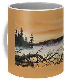 Coffee Mug featuring the painting Autumn Sunset Mist by James Williamson