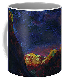 Autumn Sunset Over Half Dome 2013 A Coffee Mug by Walter Fahmy