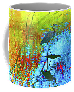Coffee Mug featuring the photograph Autumn Tapestry Blue by Ola Allen