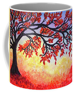 Coffee Mug featuring the painting Autumn Tree by Sonya Nancy Capling-Bacle
